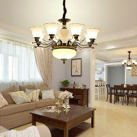 华高域美式铁艺吊灯 现代简约餐厅灯 中国风客厅卧室装饰灯饰