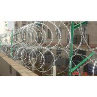 安平孟业小区社区刺绳防盗网 不锈钢刀片刺绳防护网