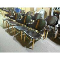 北欧风格餐椅简约实木椅子定制中西餐厅料理店火锅店实木椅子定制