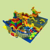 EPP积木王国厂家 商场大型儿童乐园城堡 巨型积木王国 艾可EPP乐园