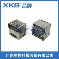 USB双面插车充专用连接器 鱼叉,双面插板 车充专用母座-USB3.1-TPYE-C-L B 01T