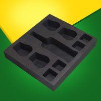 eva包装内衬定制高密度泡棉包装箱盒子背胶植绒雕刻eva做黑色海绵