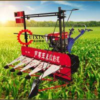 手扶车带艾草收割机 推式小麦水稻割晒机 草原割草机