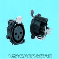 星佳供应XLR卡侬座连接器SPF-07J 三芯卡侬插座