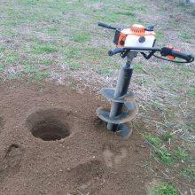 供应7.5马力挖坑机 圣鲁四冲程汽油打坑机