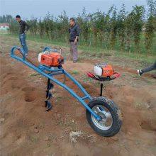 多功能汽油打洞机 启航牌园林植树挖坑机 汽油便携式挖坑机