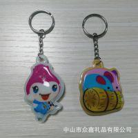 众鑫专业生产PVC带灯钥匙扣
