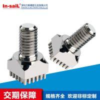 印刷电路板安装接线端子 pcb用压配式端子 铜锌合金镀雾锡型螺钉端子