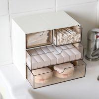 日式创意抽屉式收纳盒办公学习杂物桌面收纳盒整理盒