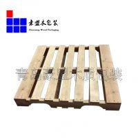 青岛黄岛托盘厂家供应四面进叉实木托盘质量保证免费送货