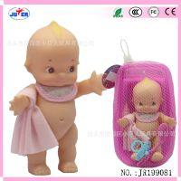 新款沐浴公仔全搪胶娃娃宝宝洗澡沐浴戏水玩水玩具婴儿小浴盆玩具