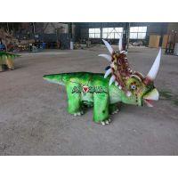骑着跑的游乐恐龙车|儿童恐龙小车批发工厂