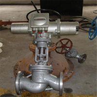 J941H-100C 铸钢法兰高压高温电动截止阀生产厂家