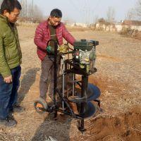 种树刨坑机 绿化苗木打孔机价格 富兴批发打树窝机