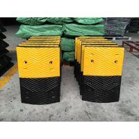 优质橡胶减速带 小区 马路安全减速条 黄黑减速条
