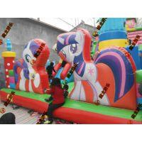 亲子户外儿童乐园充气城堡 户外拓展充气床 互动娱乐城设备充气滑梯