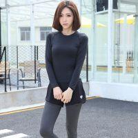 现货 韩国春夏新款运动跑步瑜伽健身假两件紧身高弹力跑步裤女