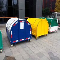 沧州绿美供应3立方钩臂式垃圾箱 环卫垃圾桶 垃圾收集箱厂家直销