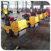 小型双钢轮压路机厂家 采用振动压实的压路机制造 三人行压实机械