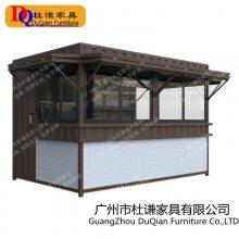 北海特色小食屋移动售卖车重庆风味面食屋大型防腐木步行街户外美食车