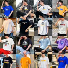2018夏季新款男式T恤便宜地摊货库存尾货男装短袖休闲宽松纯棉T恤清货