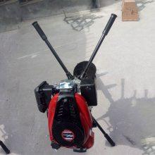 辽源市四轮拖拉机带动电线杆打眼机 启航牌手提式汽油植树单双人地钻 大棚埋桩刨坑机生产厂家