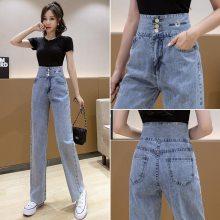 杭州的批发市场在哪里四季青服装批发韩版女士牛仔裤小脚裤弹力紧身铅笔裤批发