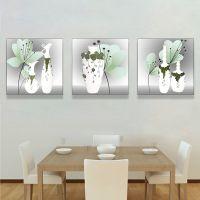 佳和佳美 家居饰品挂画浮雕三联画沙发背景画冰晶画