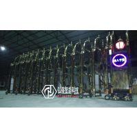 蓬江区学校伸缩门,平移门,单位悬浮门江门弘强电动门安装厂家
