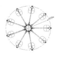 TN303 超短波双信道折叠测向天线(30MHz-3GHz)