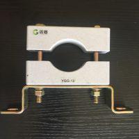 单孔高压电缆夹具-非磁性电缆固定夹具-电缆抱箍图