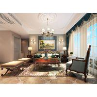 120㎡简约美式风格家居装修设计案例,低调的奢华,温馨而舒适! 