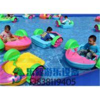 充气水池儿童手摇船组合玩船充气池儿童游乐船厂家直销定做