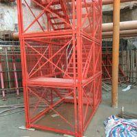 河北宏盛厂家生产定做箱式梯笼 高墩施工上下安全梯笼