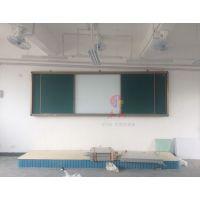 深圳双面挂墙白板2化州背面粉笔绿板2正面干擦白板