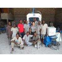 唐海透水砖制砖机小型砖机华源免烧砖机售后服务及时