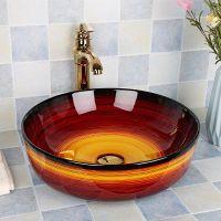 家用酒店陶瓷彩色新款台上洗手盆简约卫生间面盆