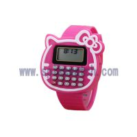 外贸跨境货源专供SPIKE新品多功能儿童卡通计算器电子手表