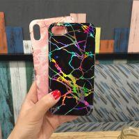 电镀大理纹手机壳iphonex镭射IMD软胶壳苹果8p防摔保护套