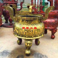 供应铸铁圆形平口插高香香炉大型寺院祖堂香炉多少钱