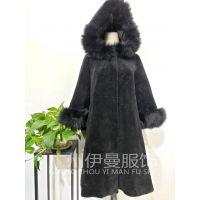 广州伊曼服饰折扣女装批发,冬装羊剪绒大衣重磅来袭