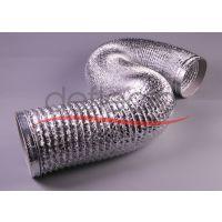 铝箔可伸缩软管 铝箔钢丝软管 空调铝箔保温管道 广东铝箔软管厂家 现货直销