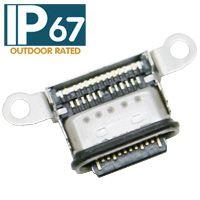 SEMTIME贴片TYPE-C 3.1母头90度四脚插板端子DIP+SMT