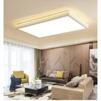 家用吸顶灯 创意卧室灯长方形简约现代大气LED遥控调光客厅灯具