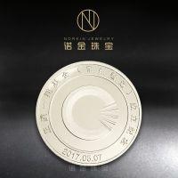 纯银纪念币 勋章纪念章定制 公司周年庆典银币礼品纪念章定做
