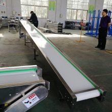 厂家优质小型食品厂自动化输送机白色PU流水线不锈钢输送传送带德隆皮带机