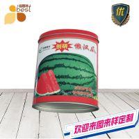 椭圆形铁盒 西瓜金属盒 种子罐包装盒定制