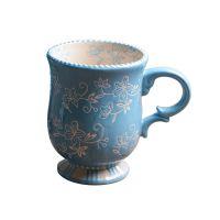 外贸原单手绘创意礼品花卉马克杯 广告促销节日婚庆陶瓷杯子批发