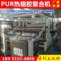直销体育产品面料 pur热熔胶复合机 湿气反应型热熔胶膜涂布机