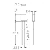 257方形直插LED灯珠 TM-L257-E 体积小,高亮度,能耗低